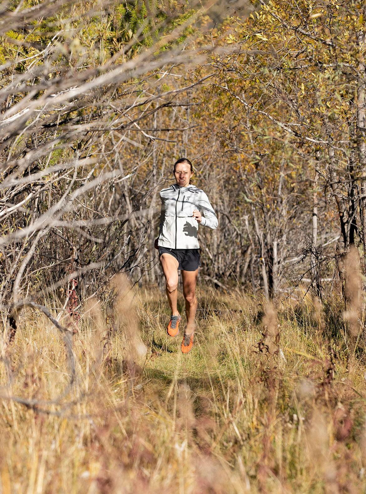 Running in the garden of the River Inn.