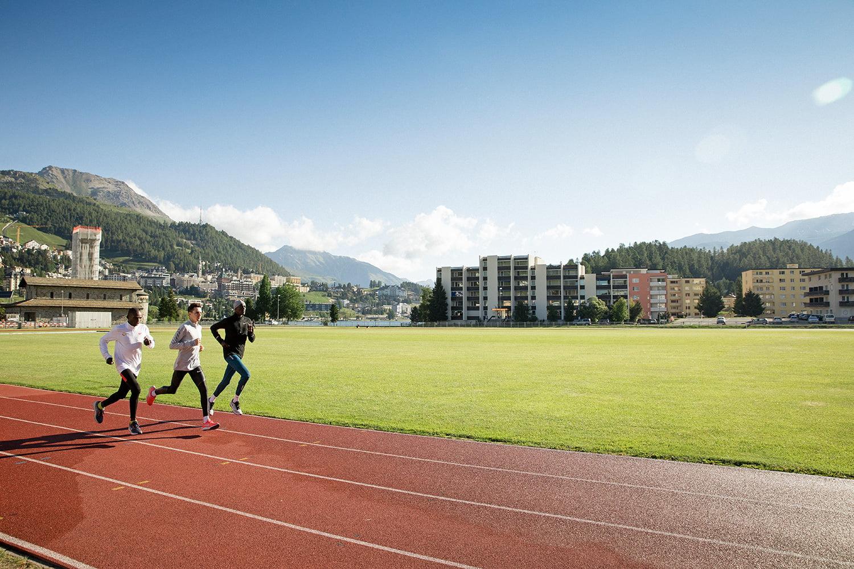 Running laps at St. Moritz