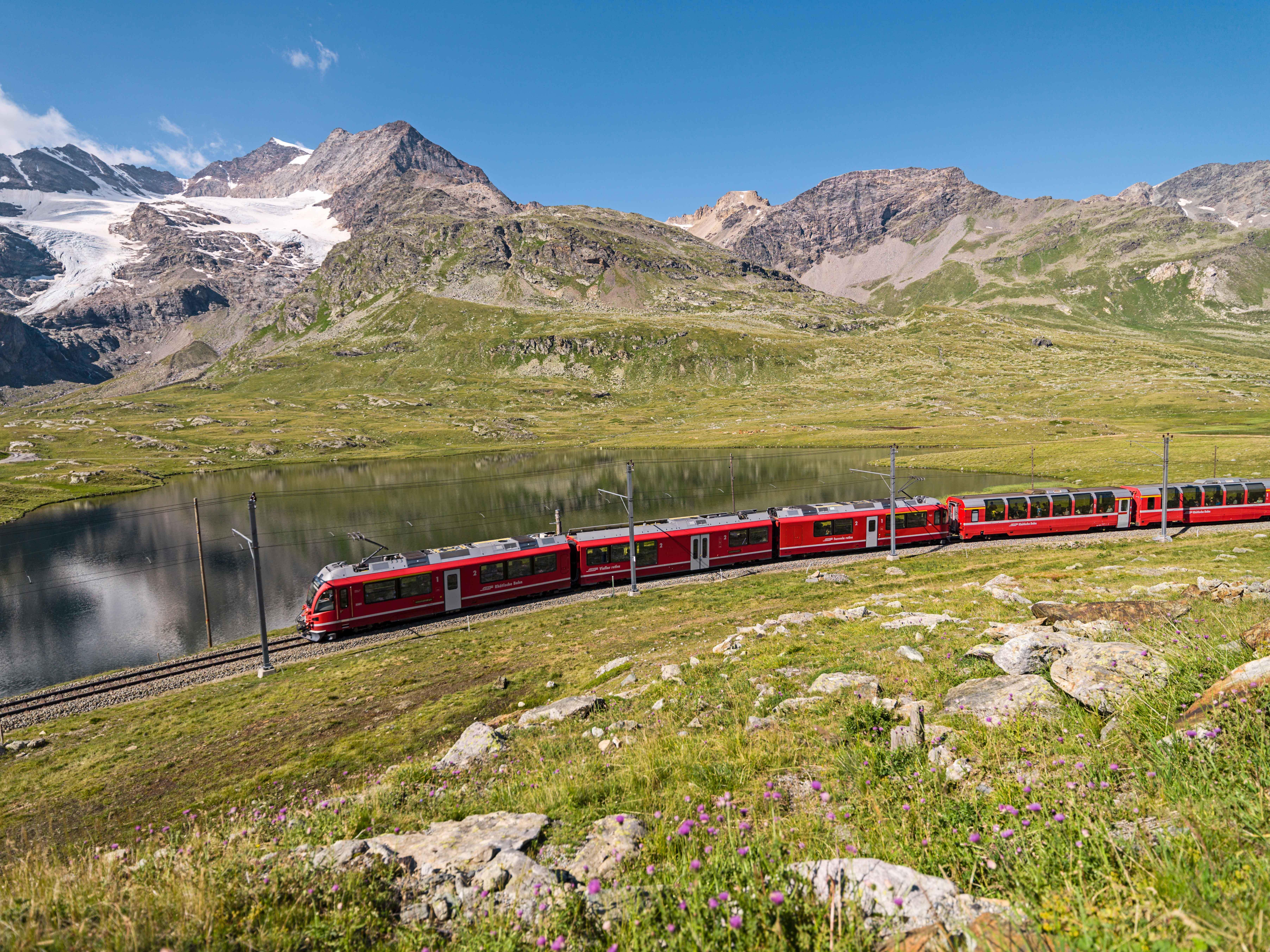 Mountain bike transport: Rhaetian Railway