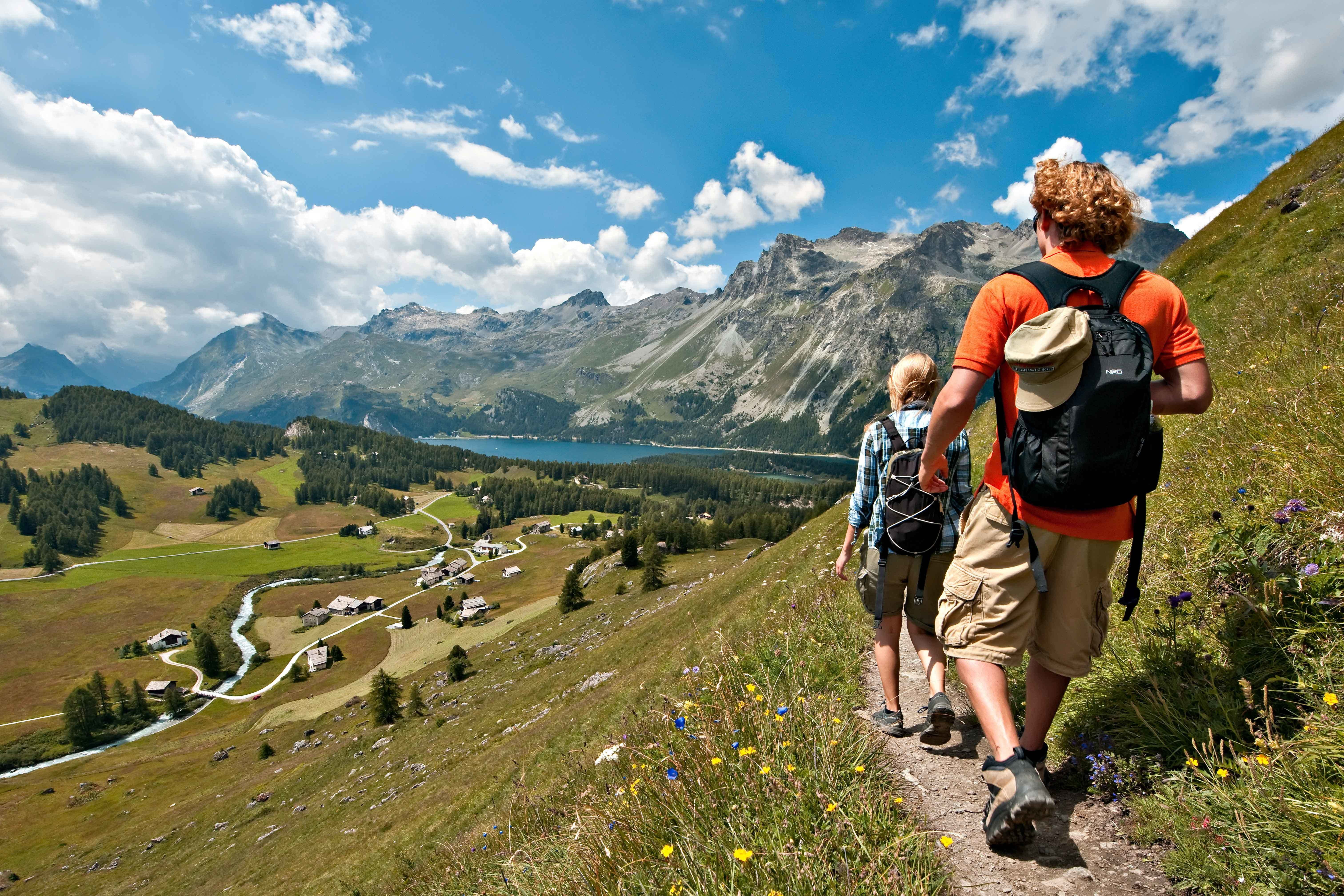 Hiking in one of the side valleys of the Engadin