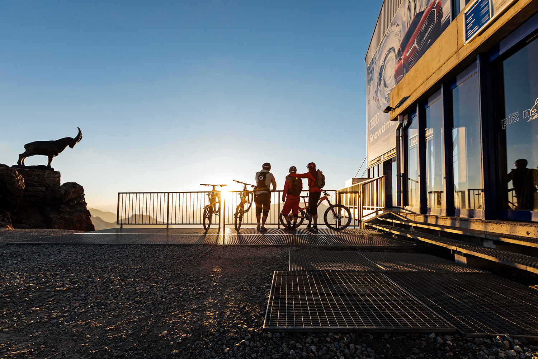 Mountainbike-Transport Corviglia und Piz Nair