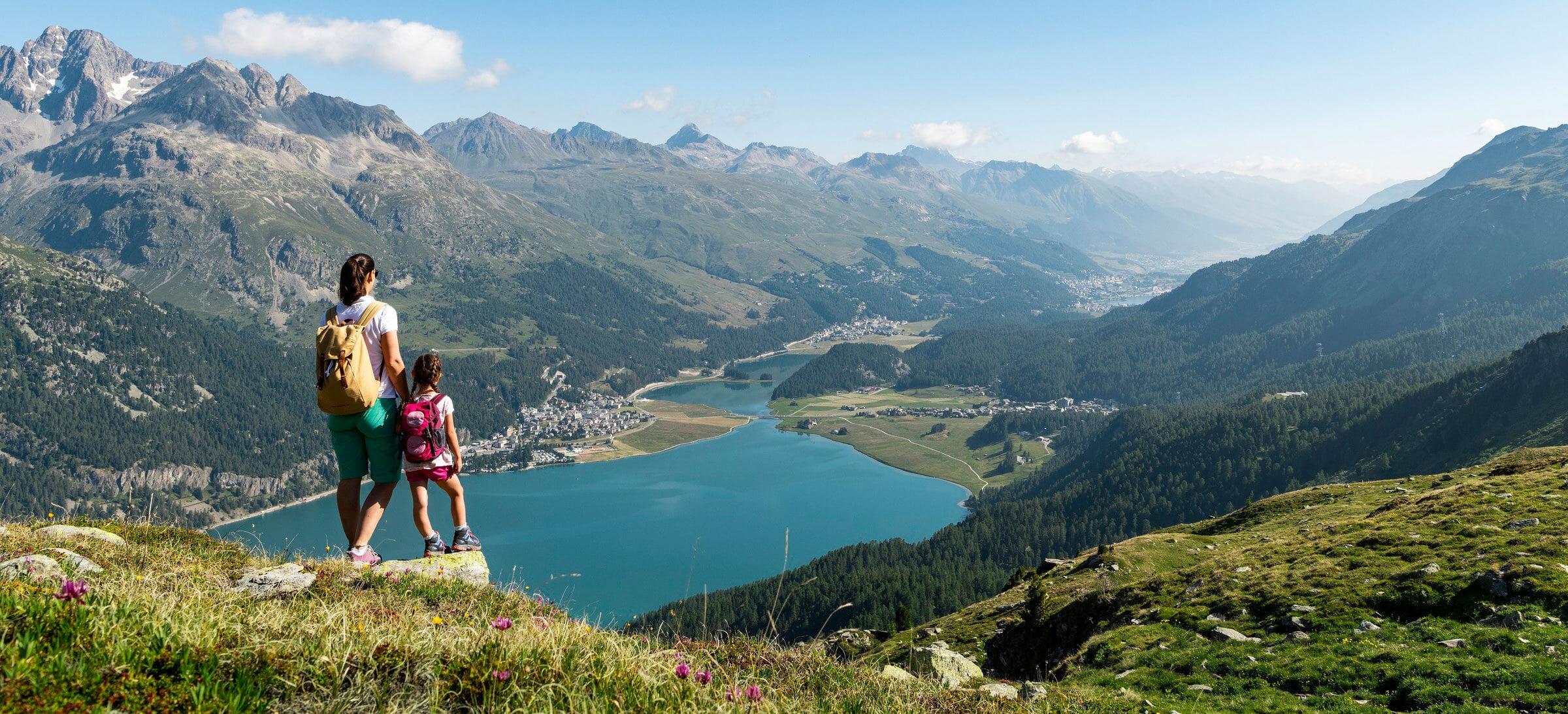 View at lake Silvaplana