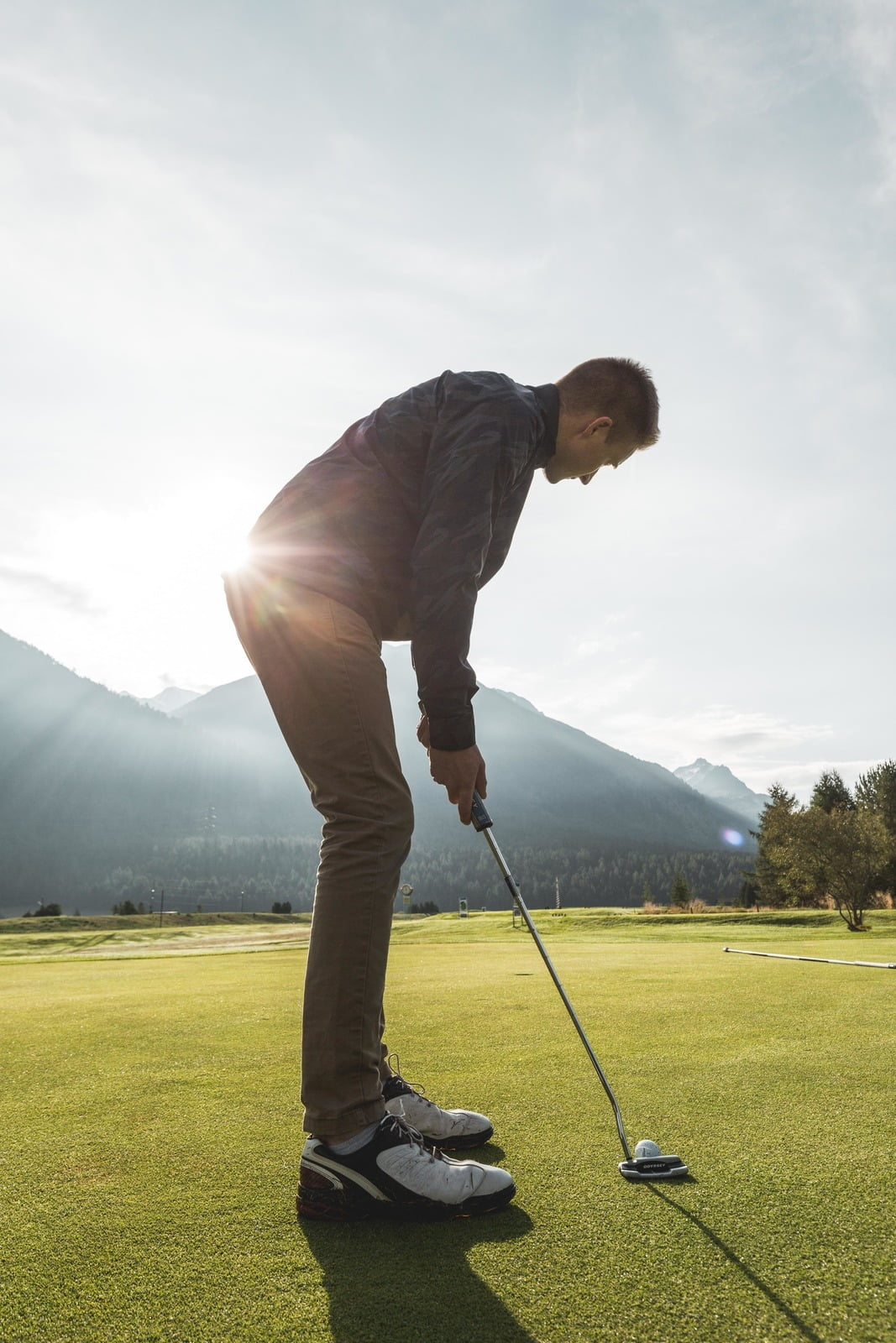 Relaxed golf and leisurely recreation