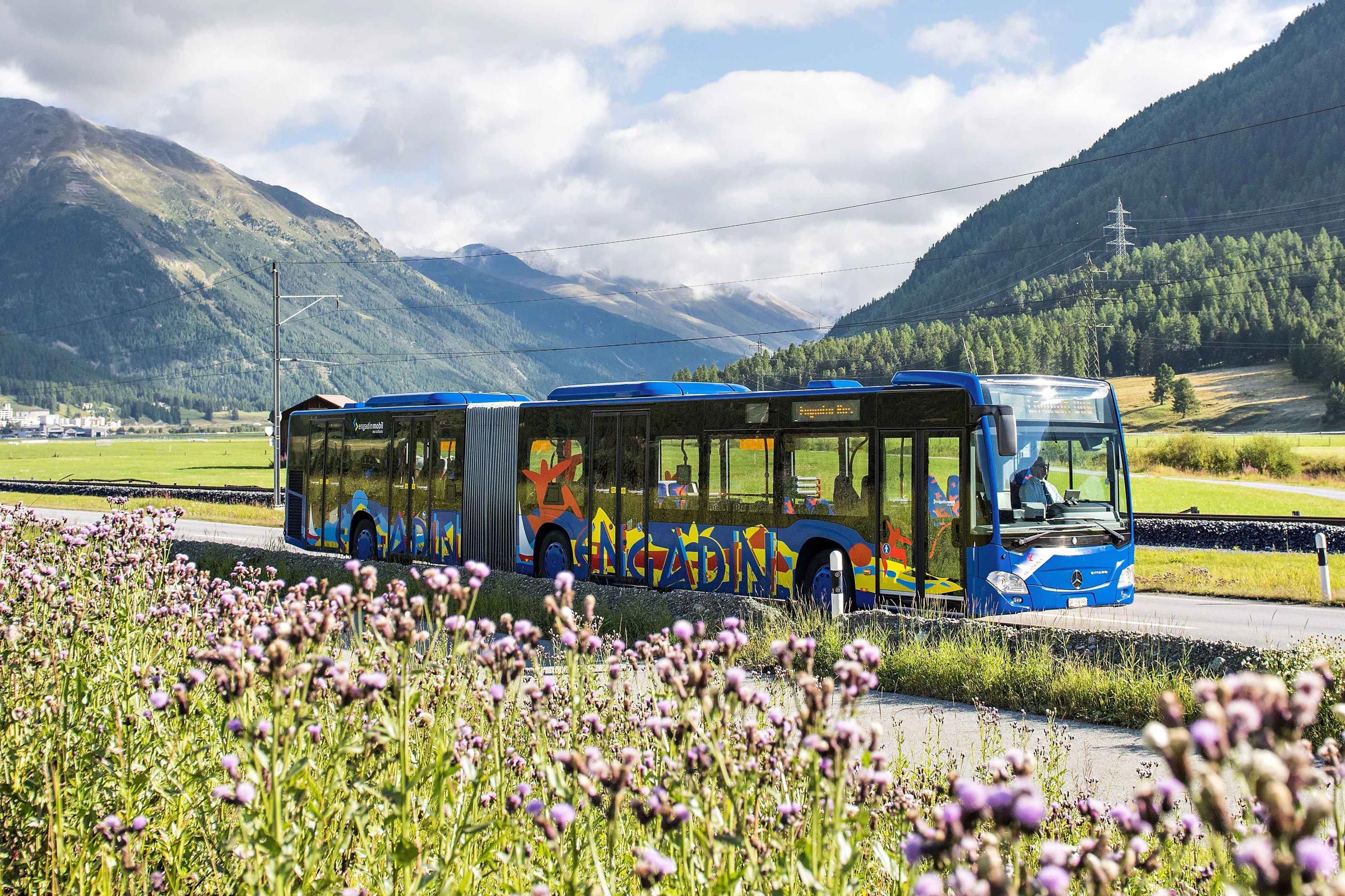 Mountainbike-Transport: Engadin Bus