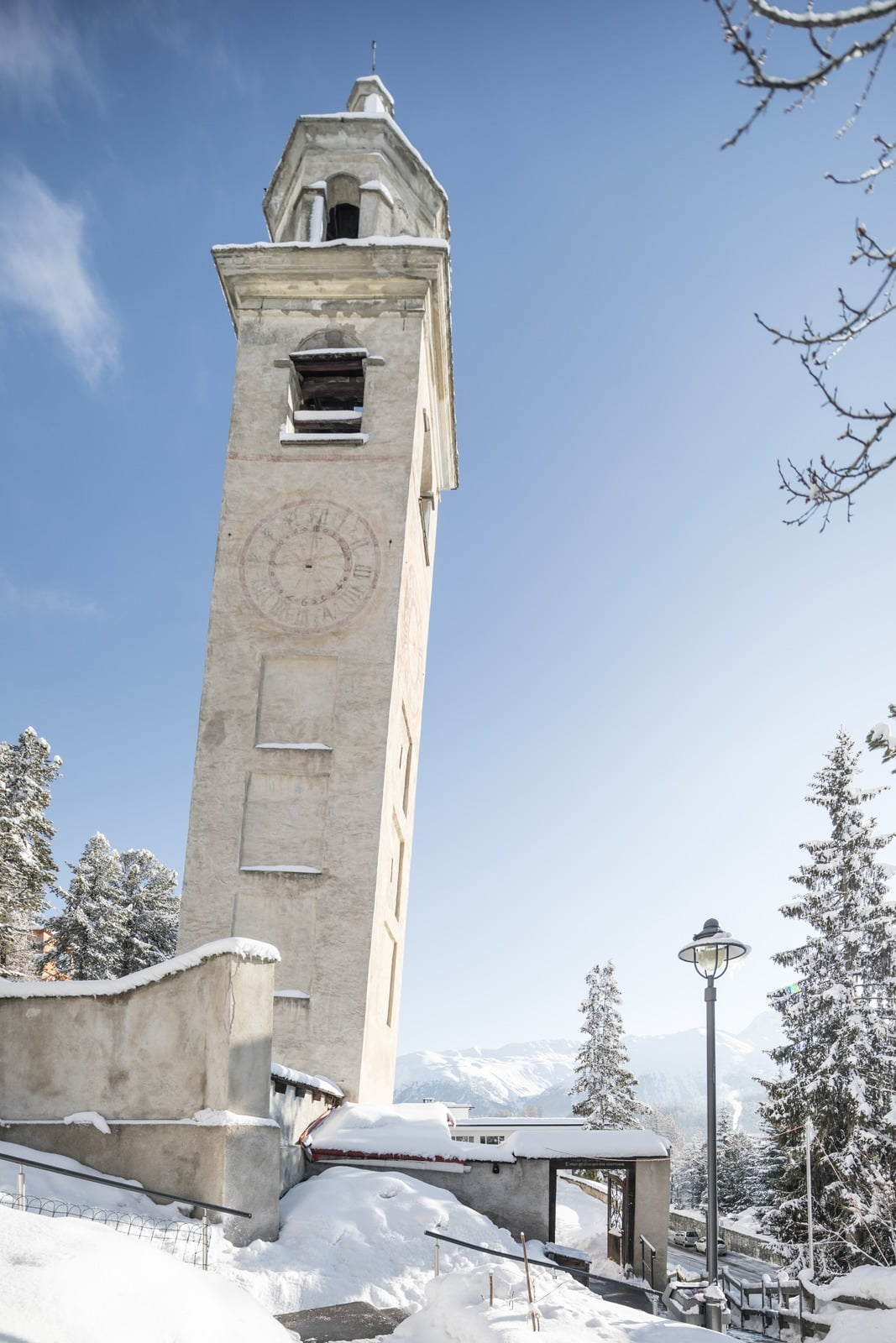 The leaning Tower of St. Moritz