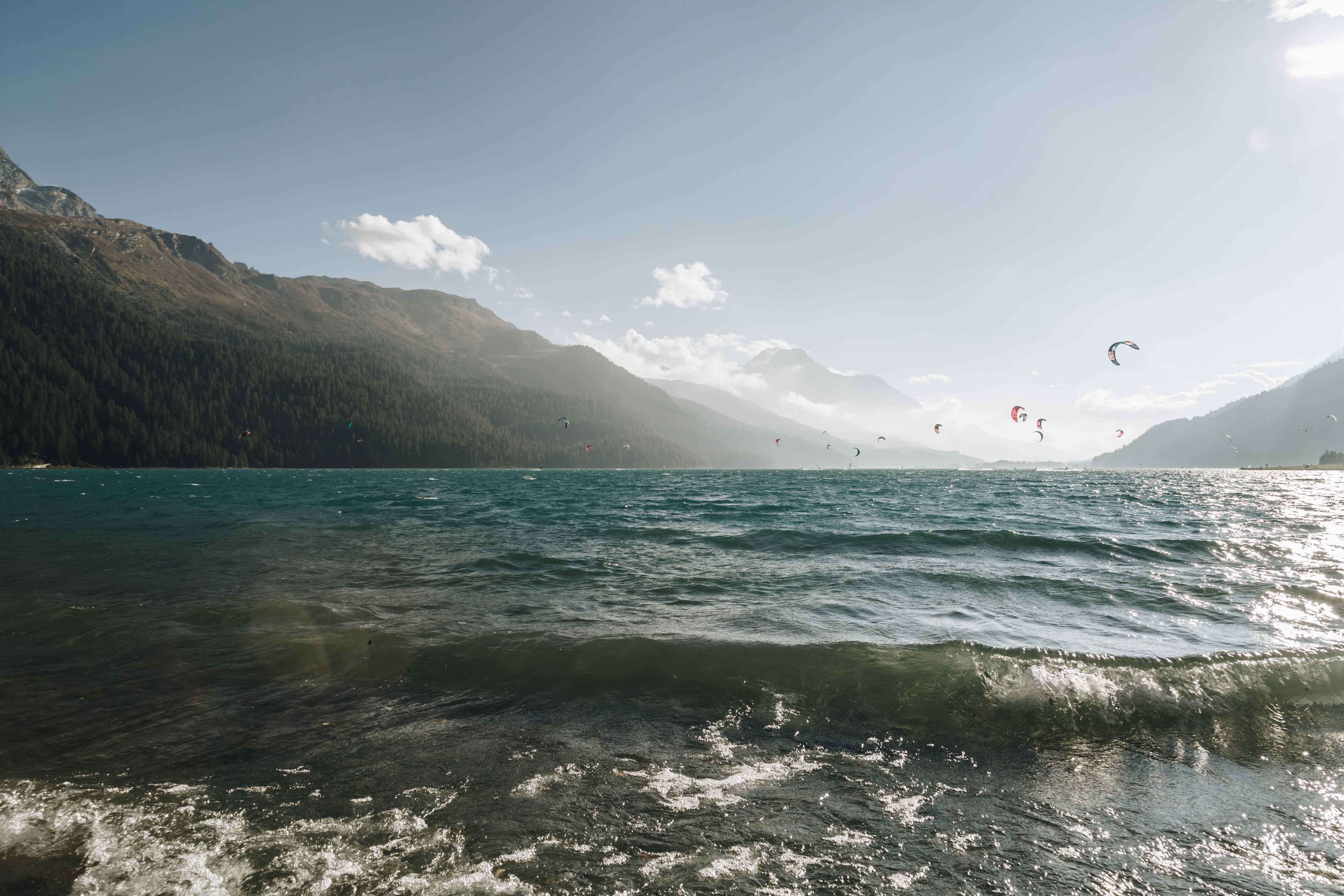 Kitesurfing am Silvaplanasee