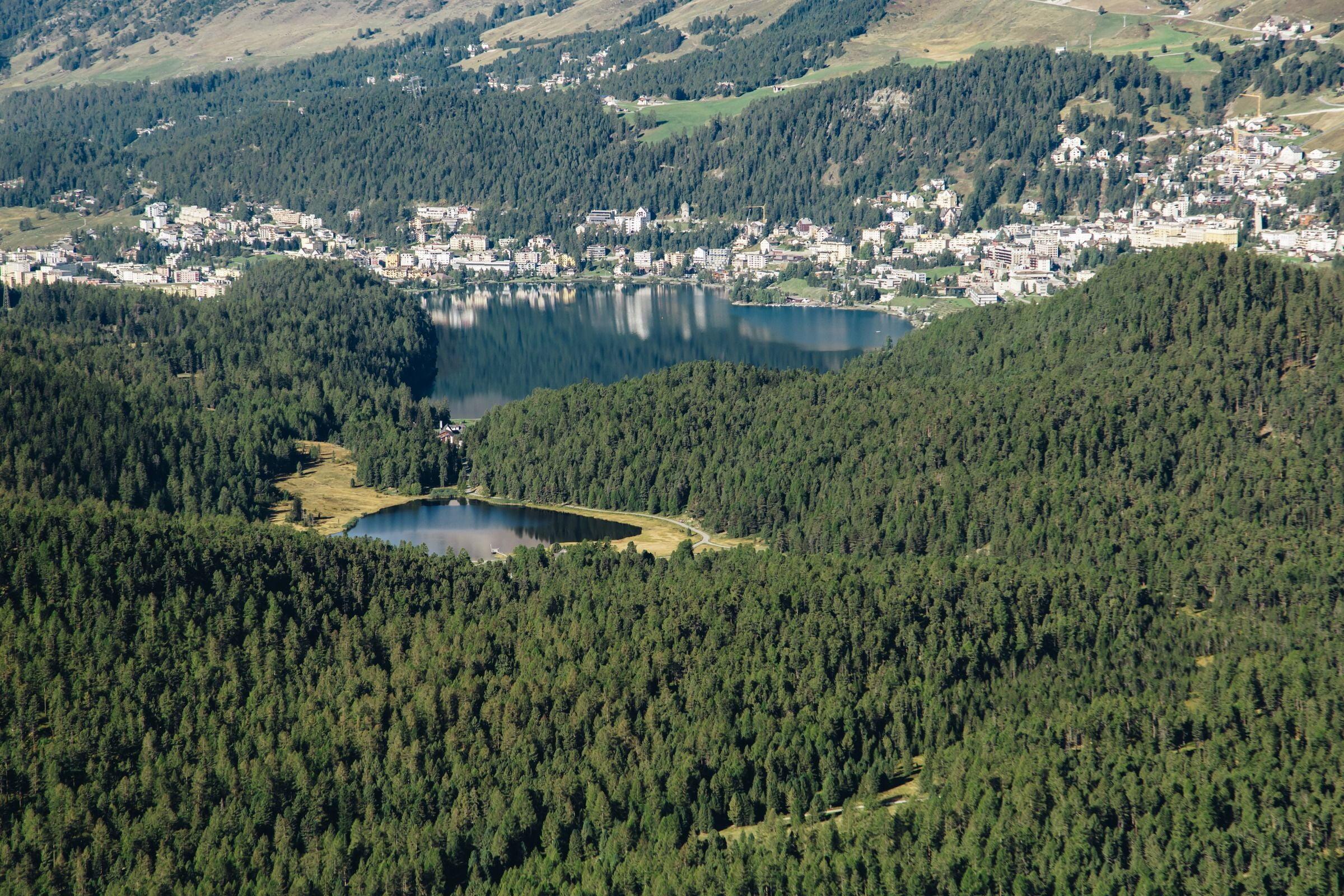 Lej da Staz oberhalb von St. Moritz