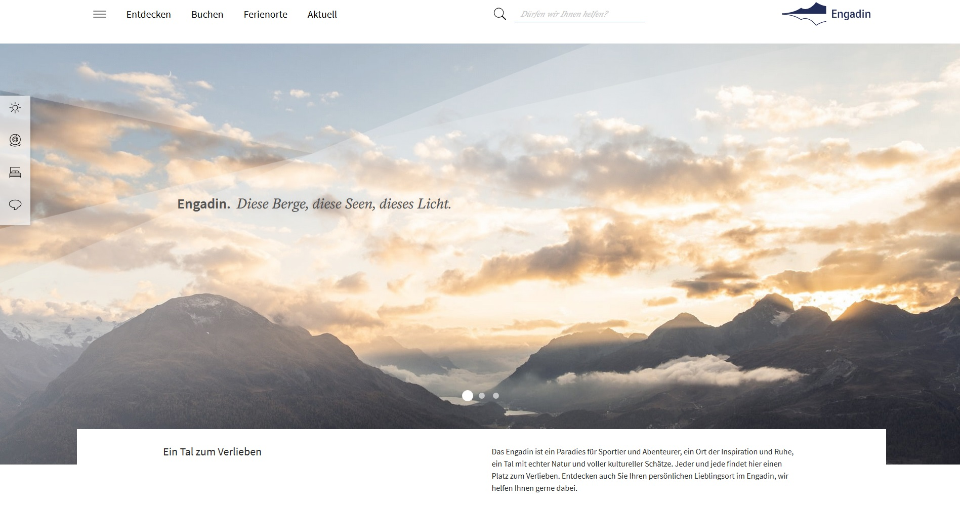 Neue Website www.engadin.ch Slide 1