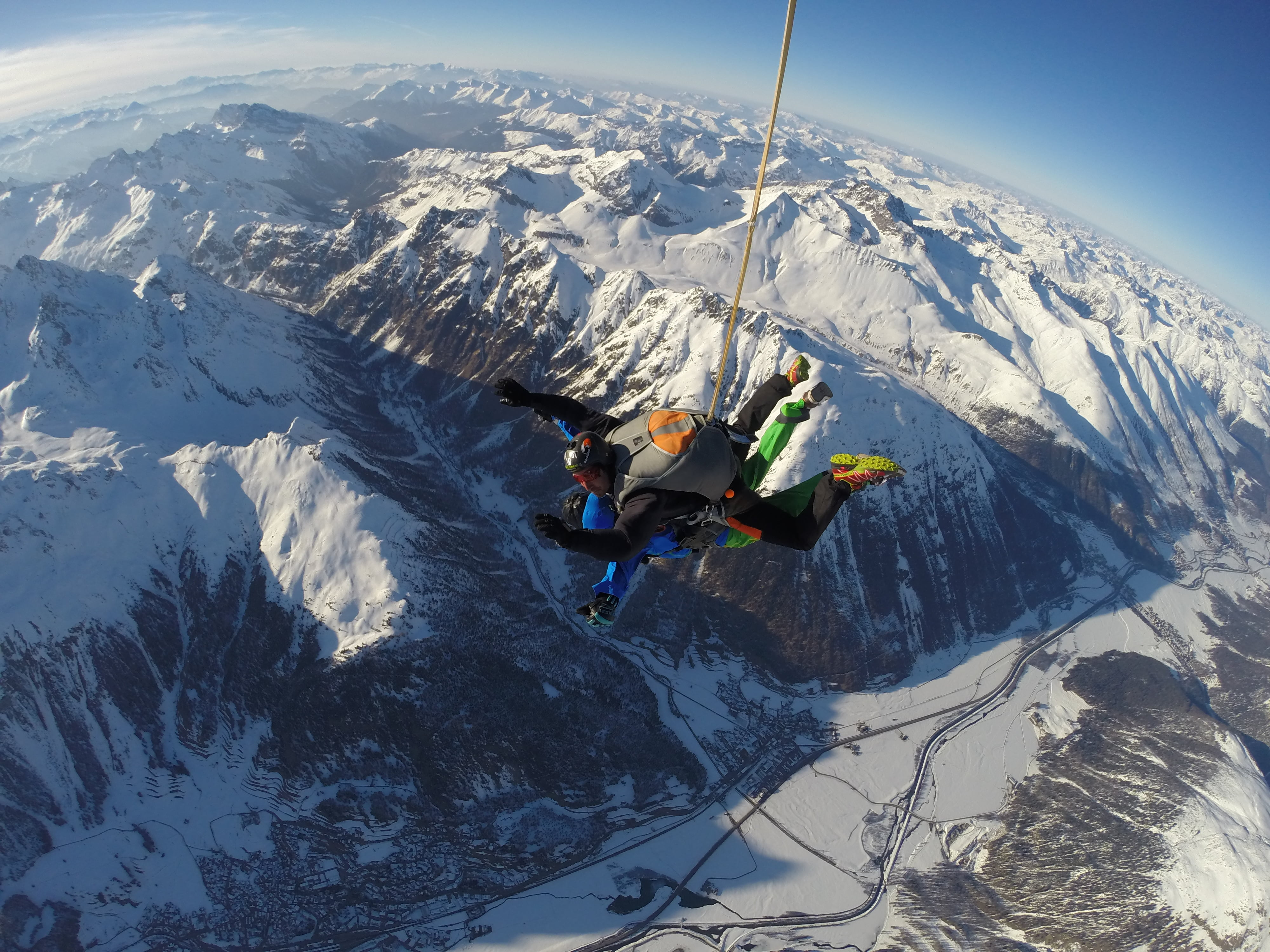 Skydiving in the Engadin