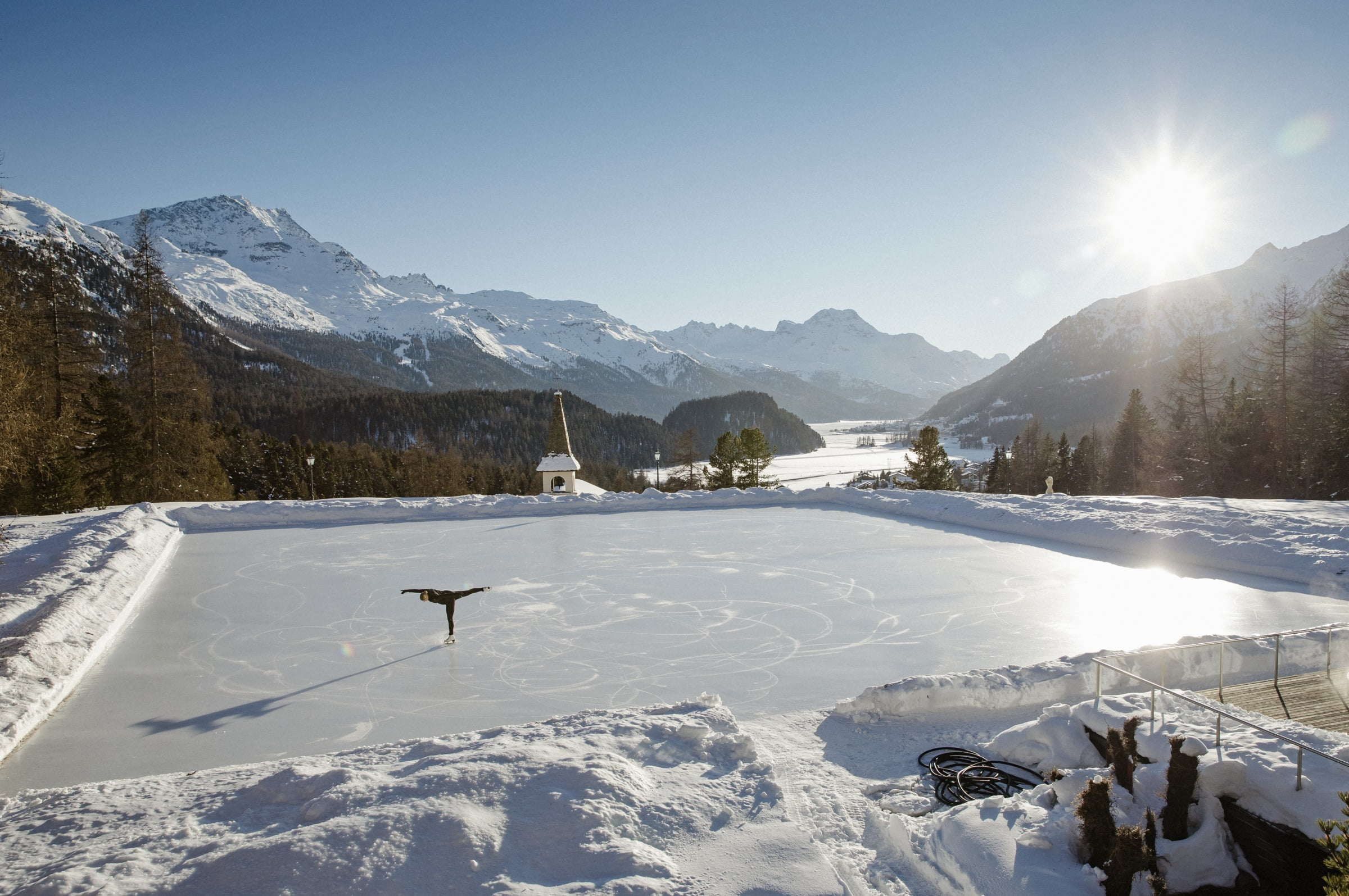 Ice field at Kulm  Country Club, St. Moritz.