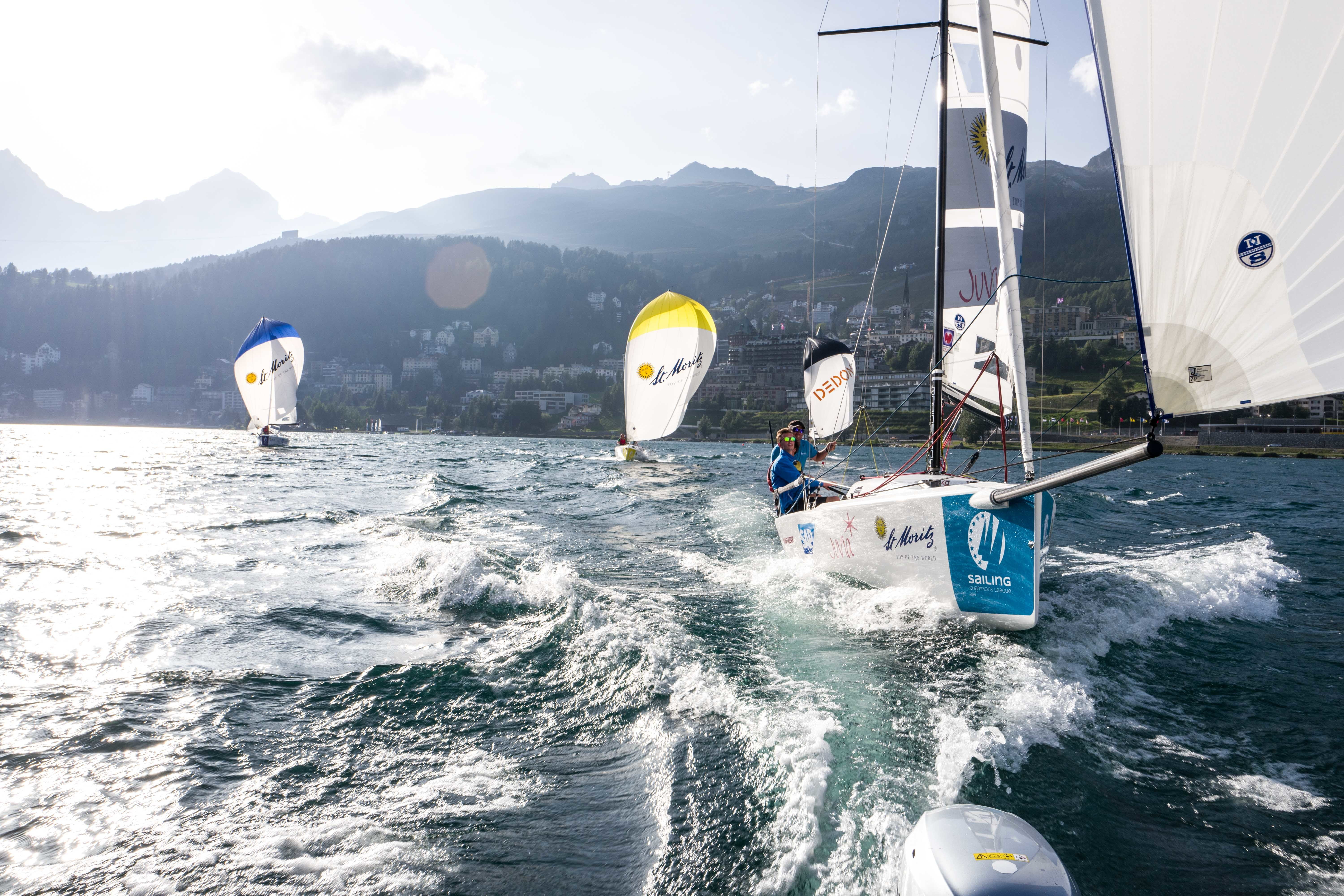 Sailing in the Engadin