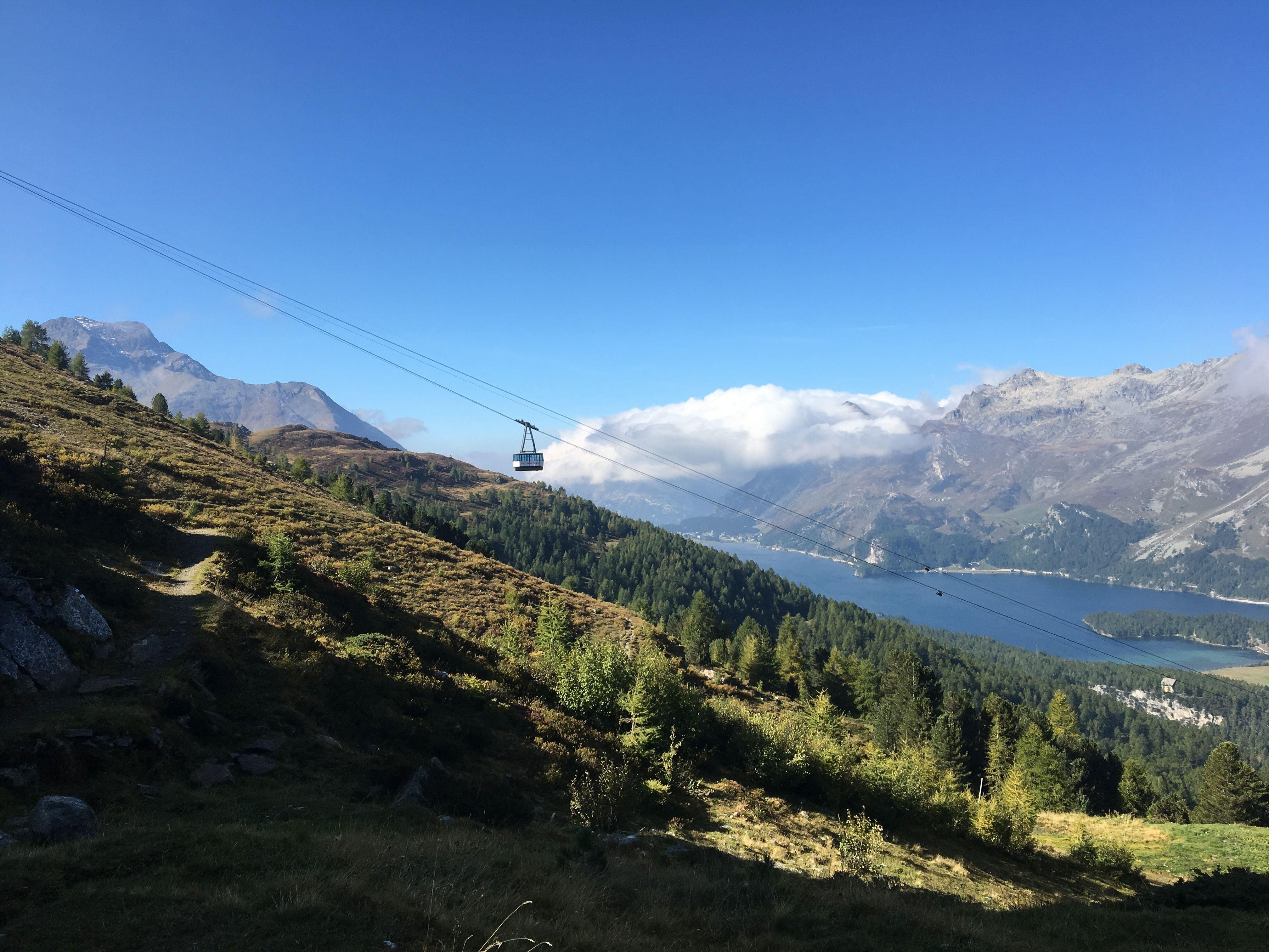 Furtschellas Bergbahn in Sils