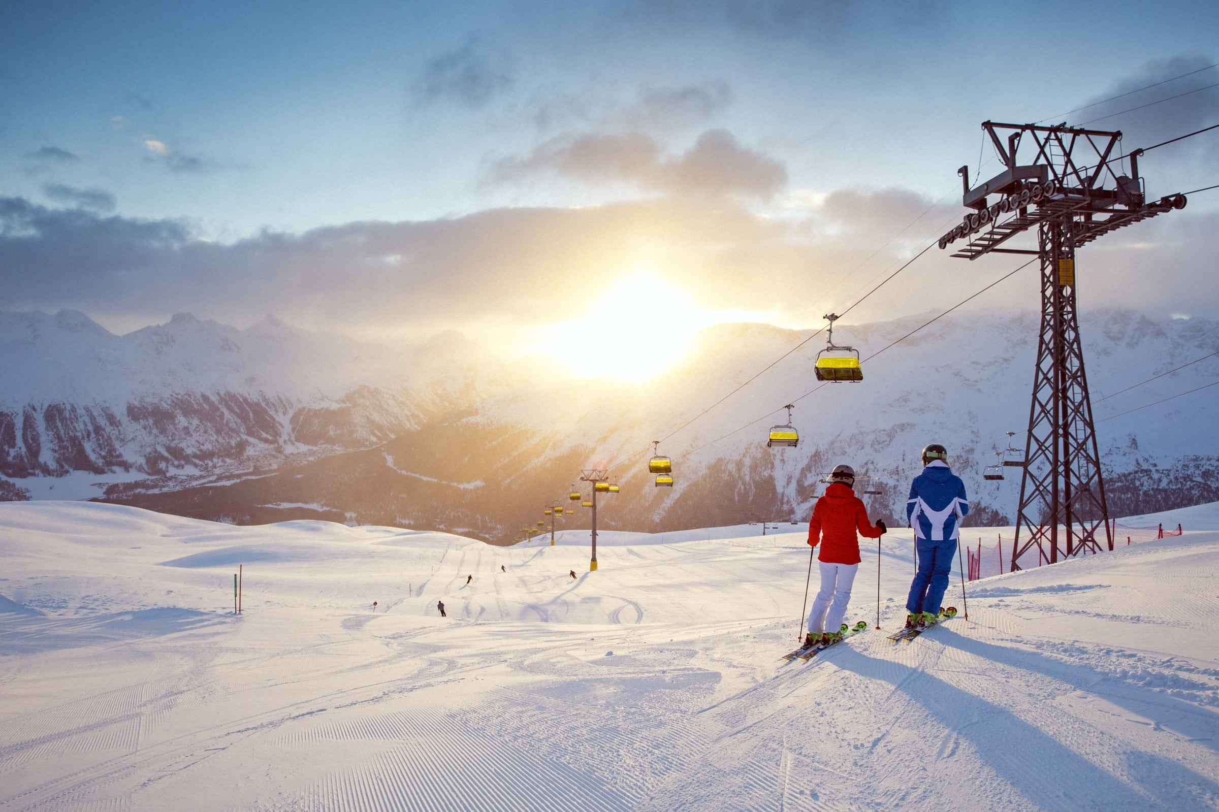 Heavenly runs in a winter sports paradise