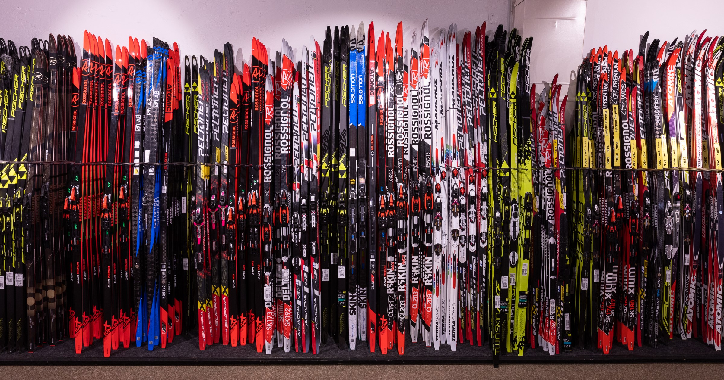 Cross-country ski rental stations
