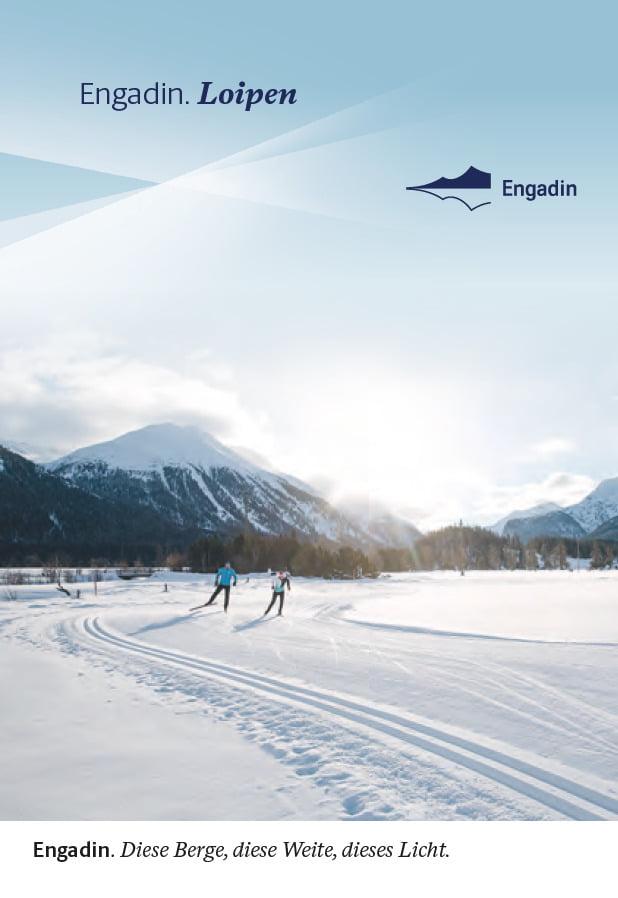 Panoramic map cross-country skiing