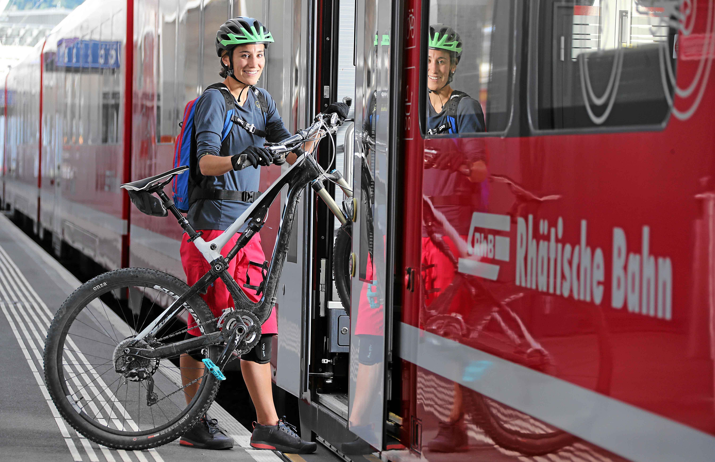 E-Bike Transport: Rhätische Bahn
