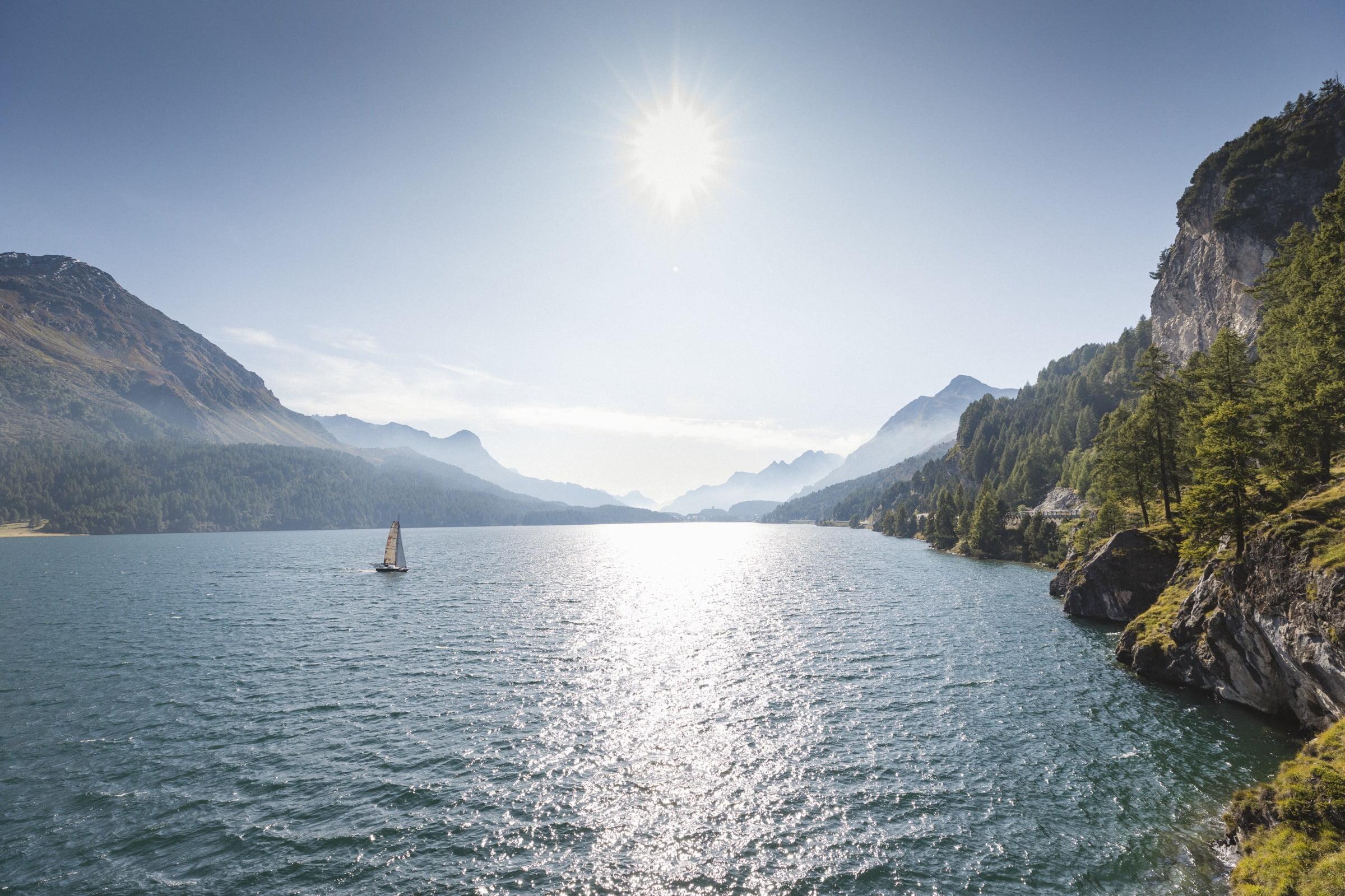 Sailing at Lake St. Moritz