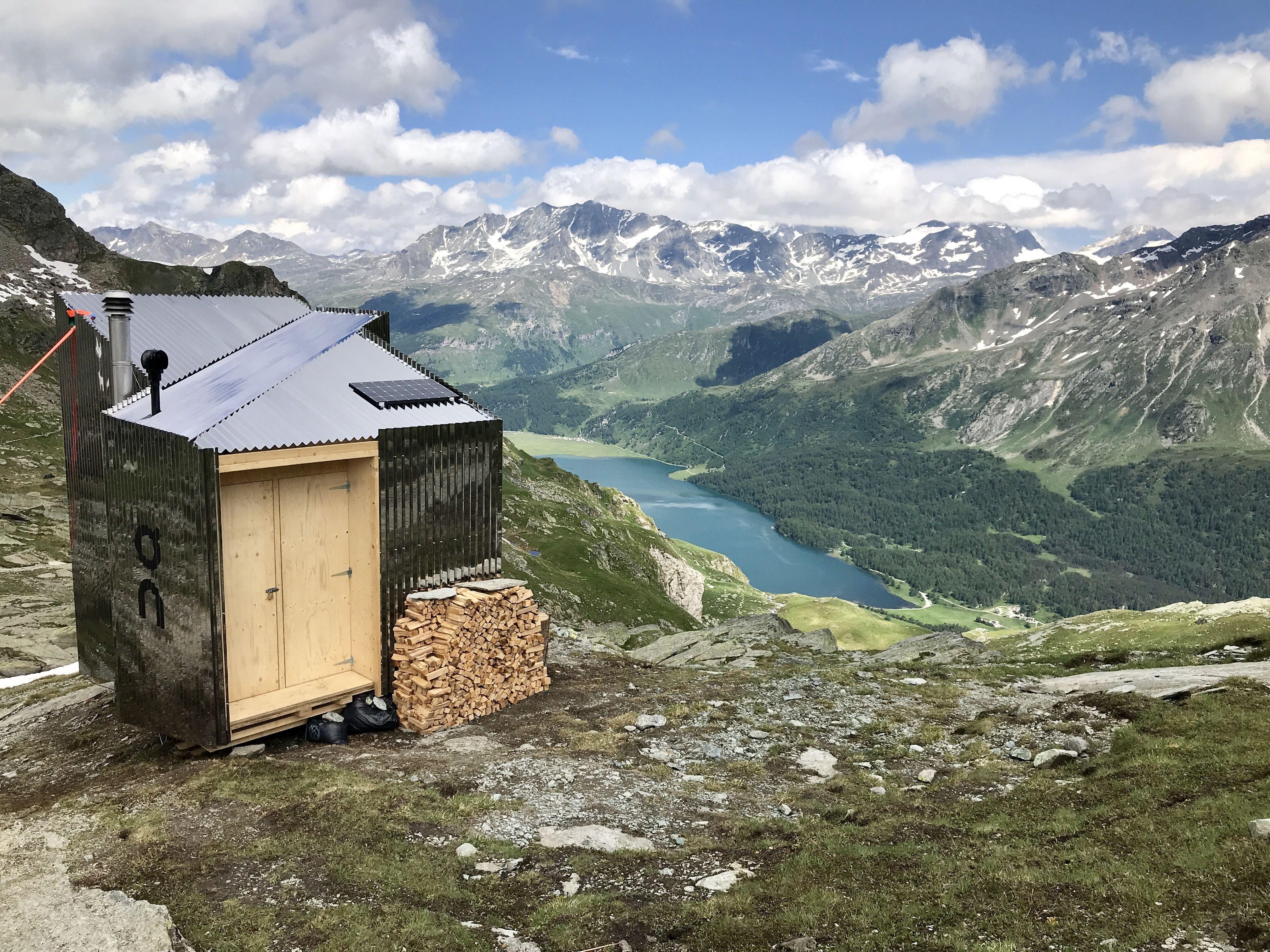 On Mountain Hut Slide 1