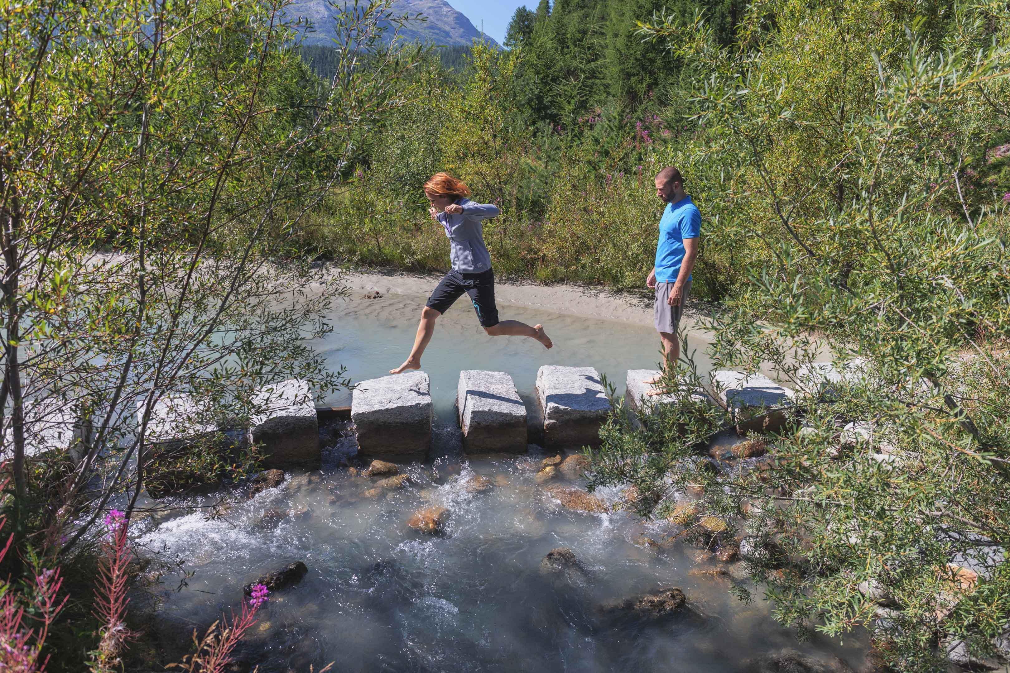Barefoot trails in Celerina