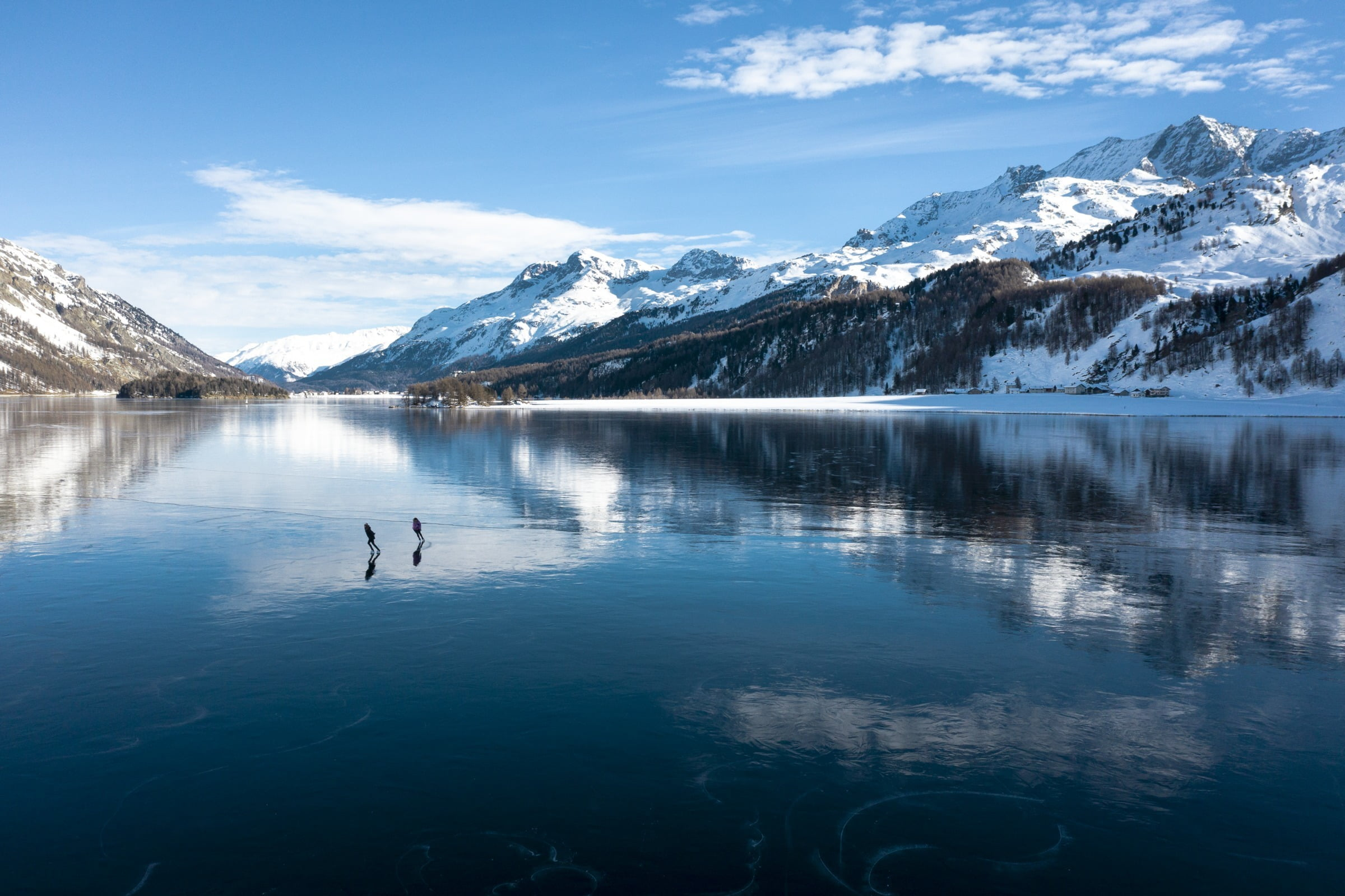 Ice fisching at Lake Sils