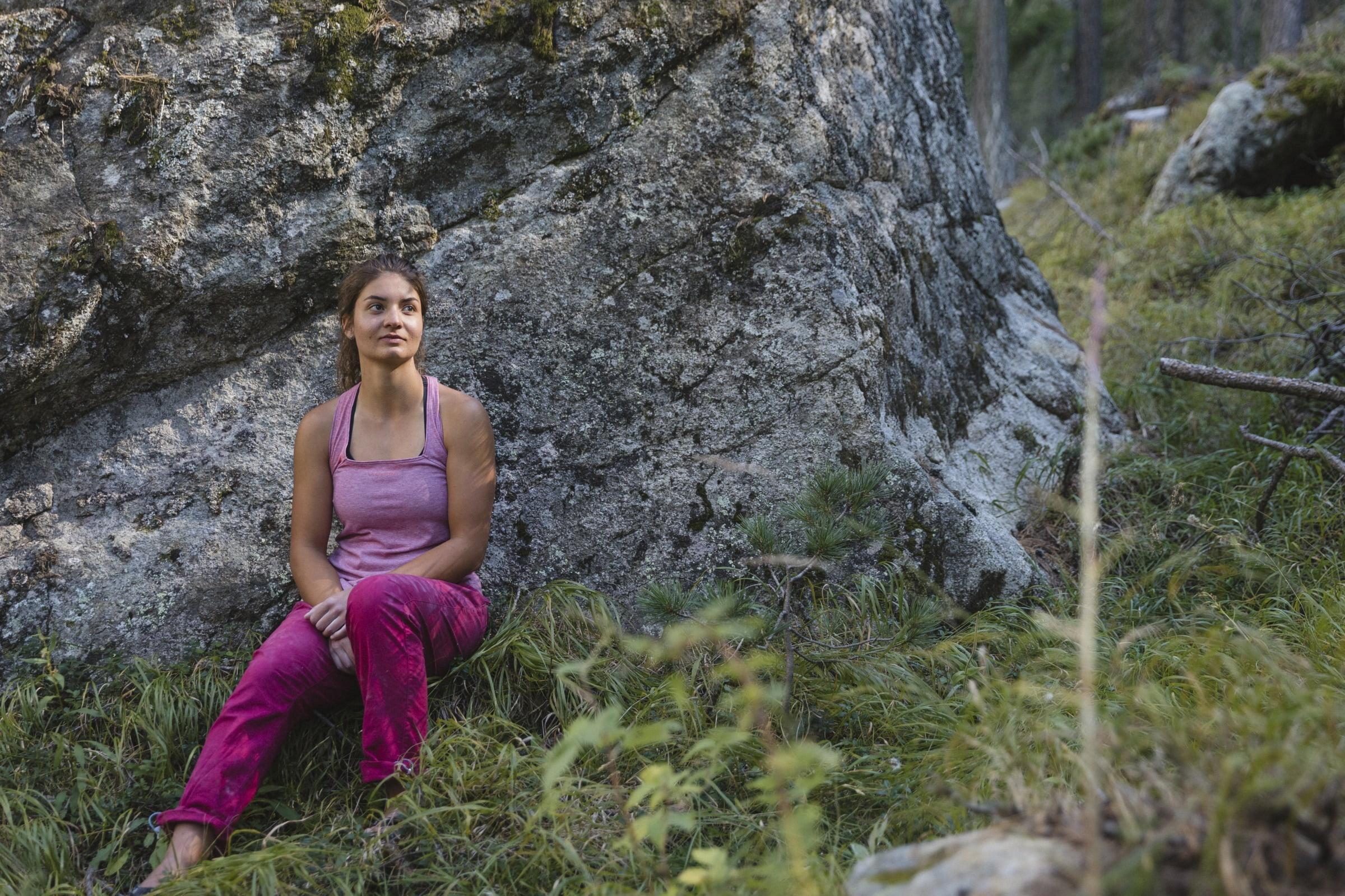 Leä Bärfuss: Zug um Zug - Bouldern im Engadin