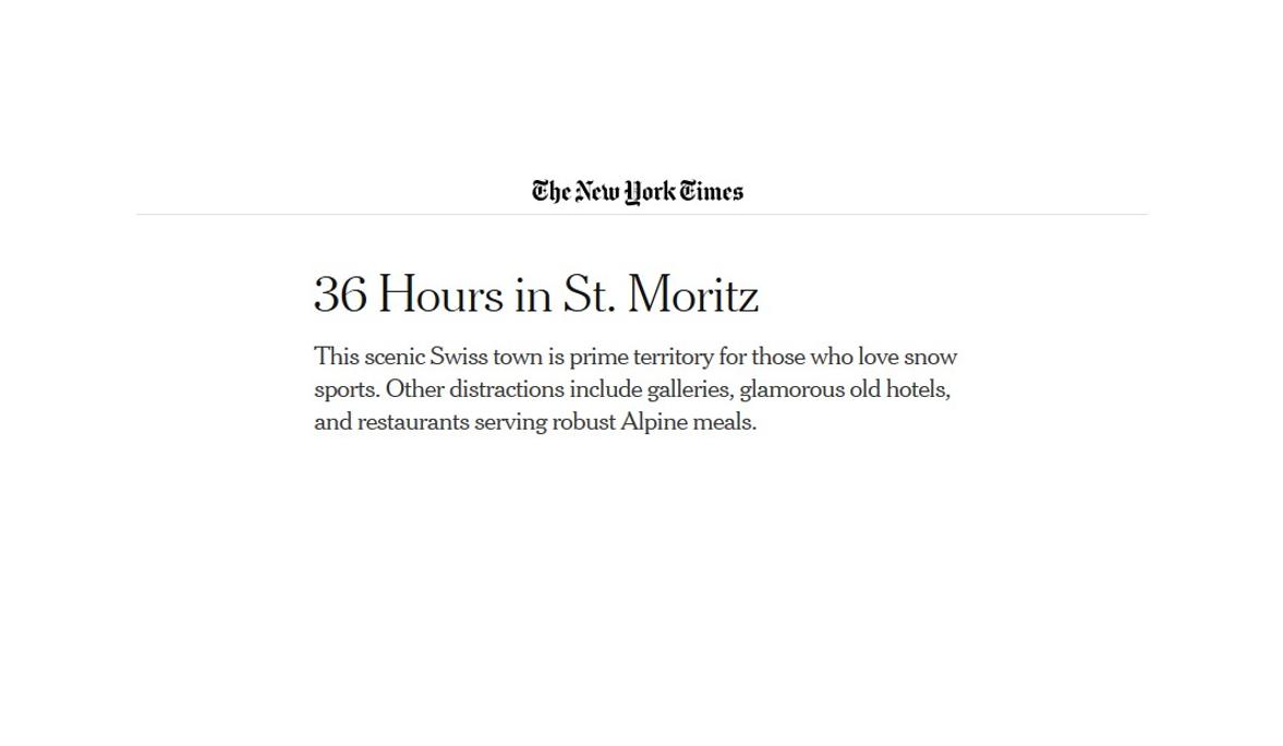 St. Moritz PR Summary 2019 Slide 1