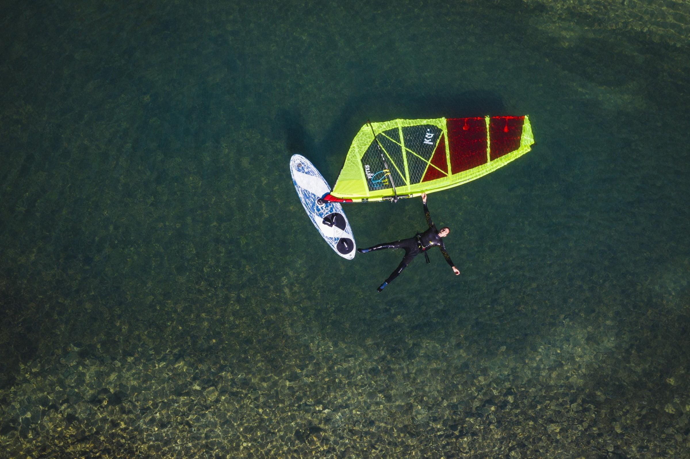 Kitesurfing in Silvaplana