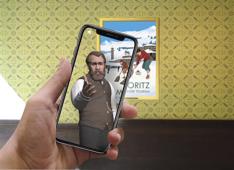 Augmented-Reality-Erlebnis Winterolymp