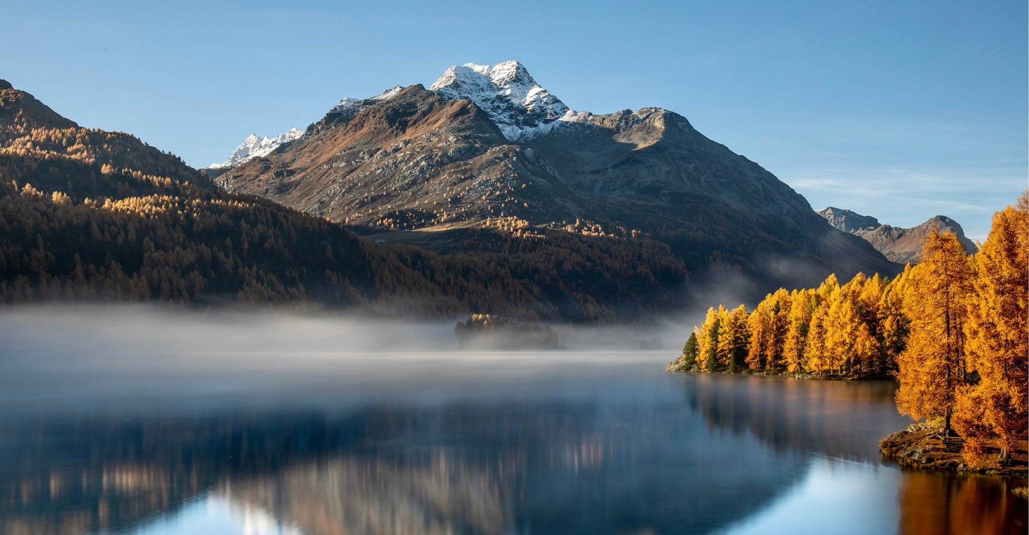 Lake Sils, autumn in the Engadin