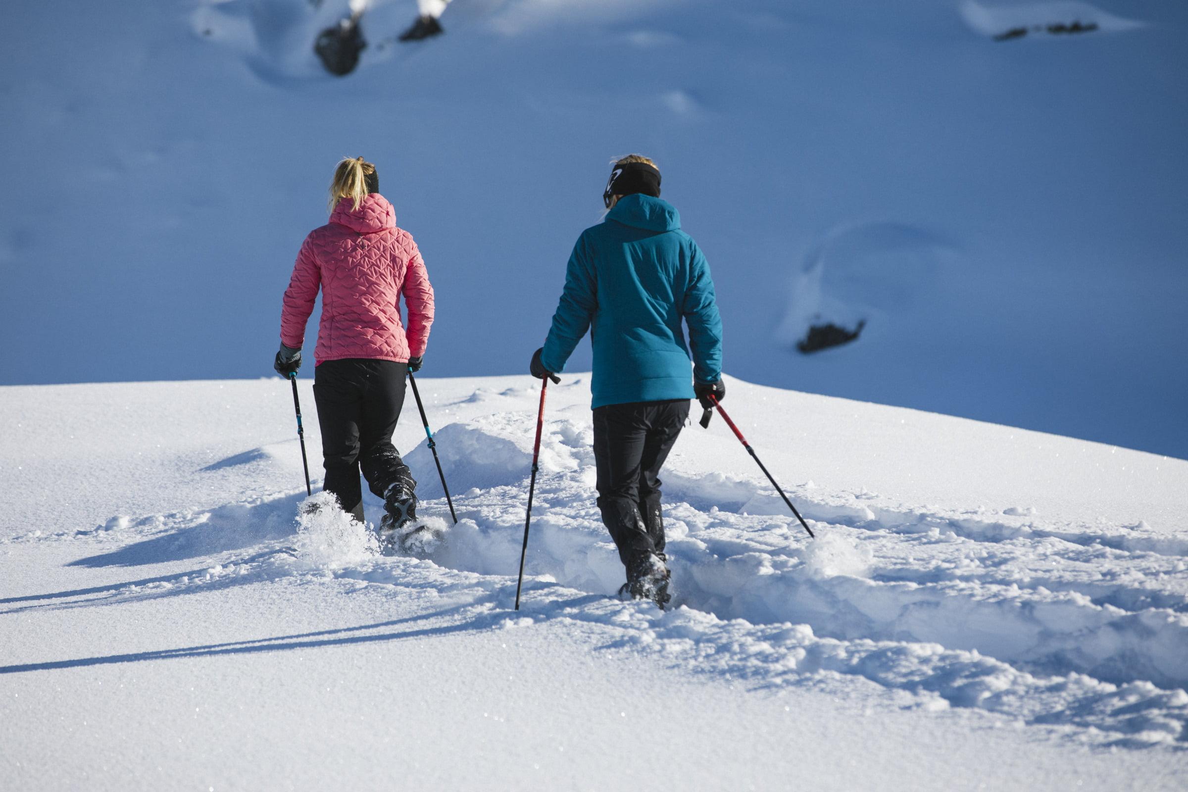 Snowshoeing - a pure taste of pristine snow Slug