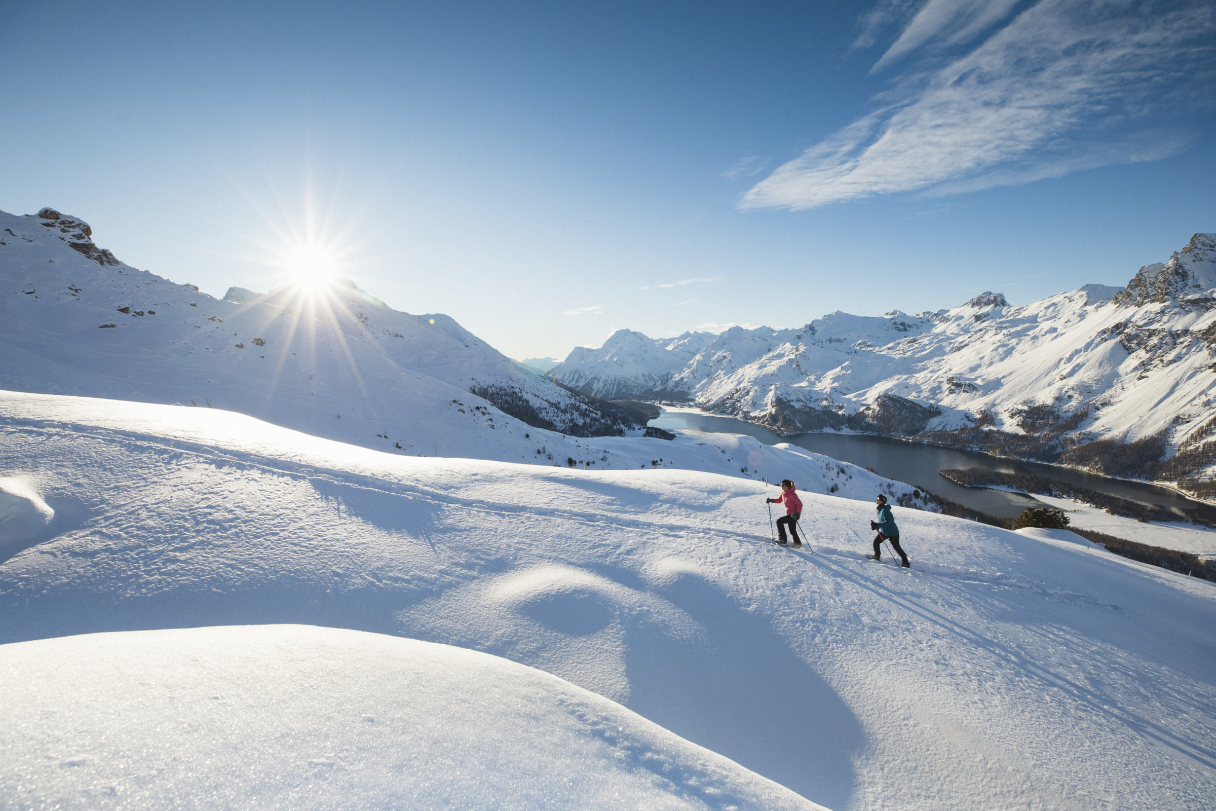Snowshoeing  at Furtschellas