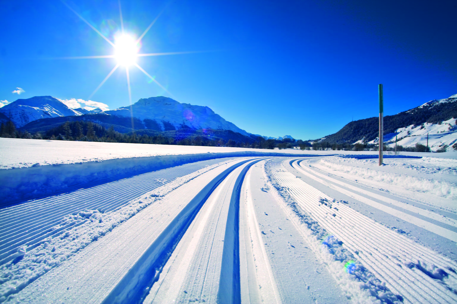 """Cross country skiing in the """"heart"""" region"""