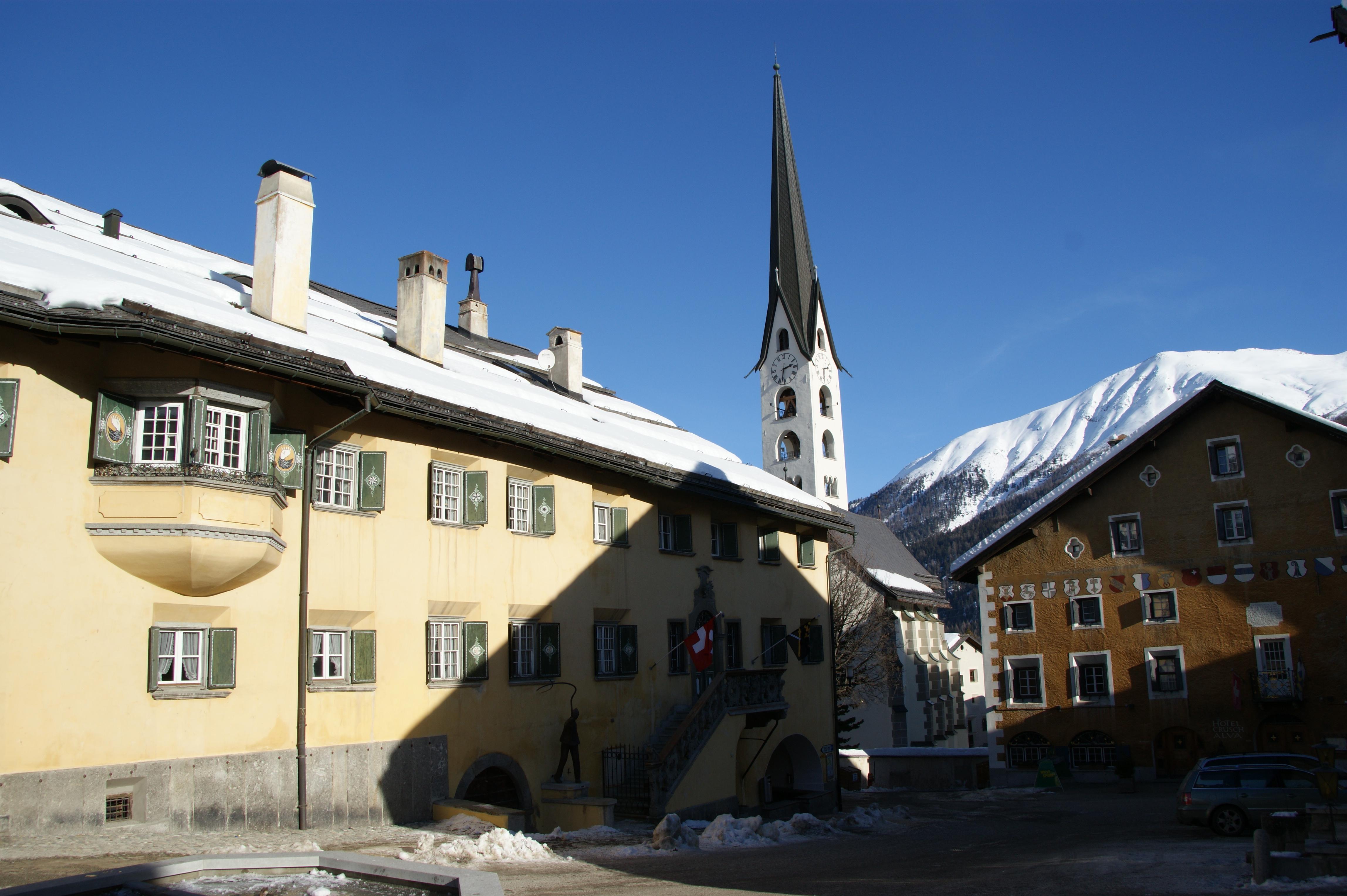Historic village centre Slide 1