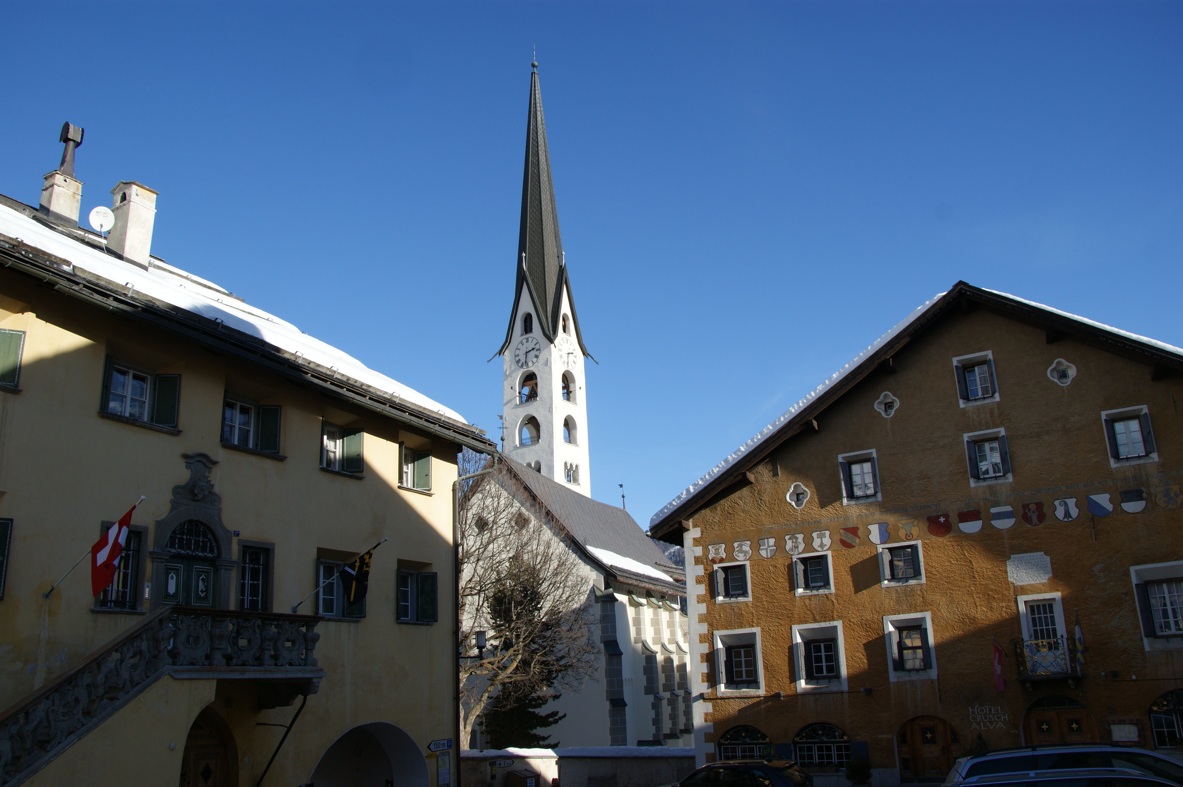 Historic village centre Slide 2