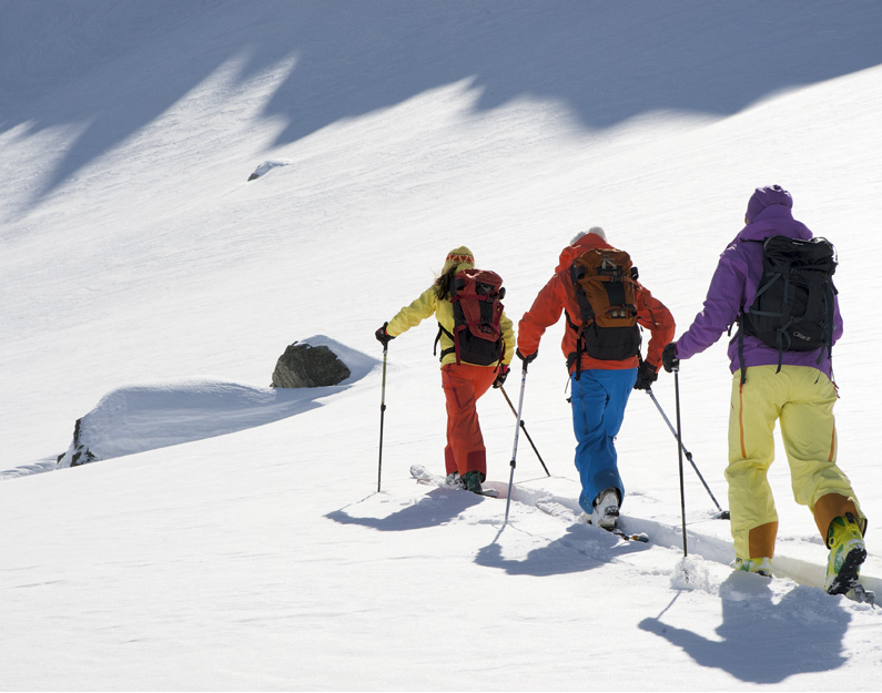 Guided ski tours with qualified mountain guide