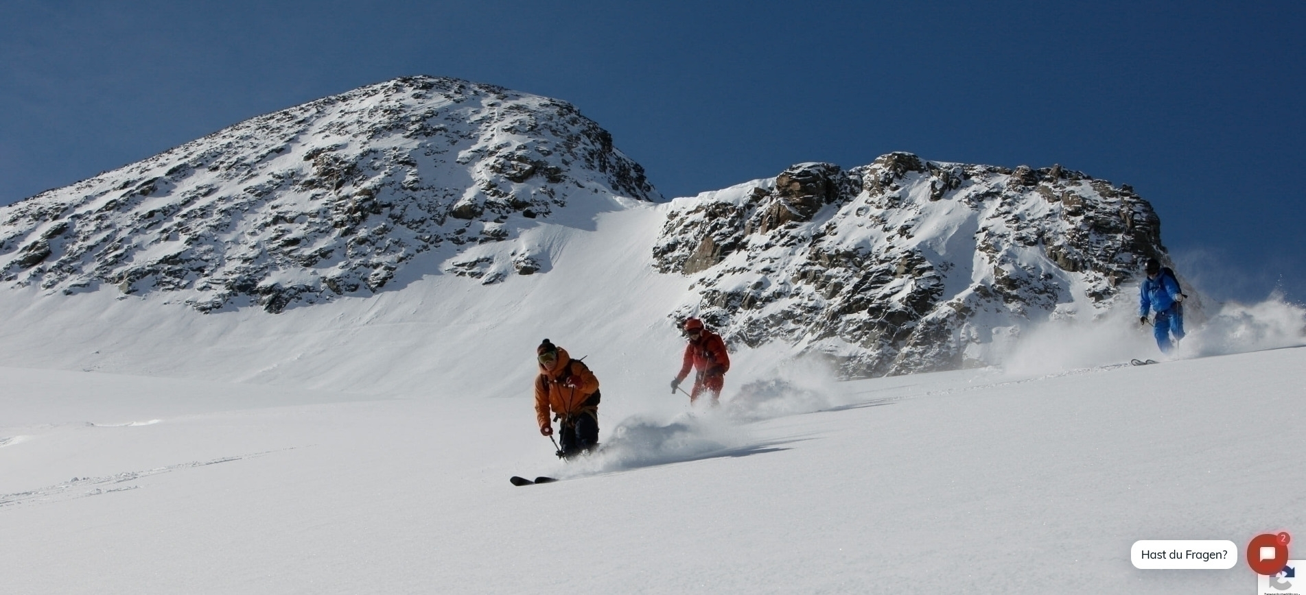 Powder course with mountain guide