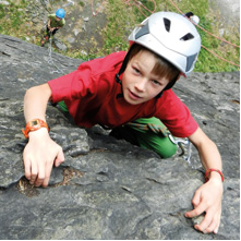 Basic climbing course for children with qualified mountain guide