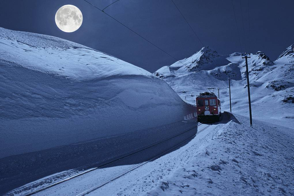 Full Moon ride with the Rhaetian Railway