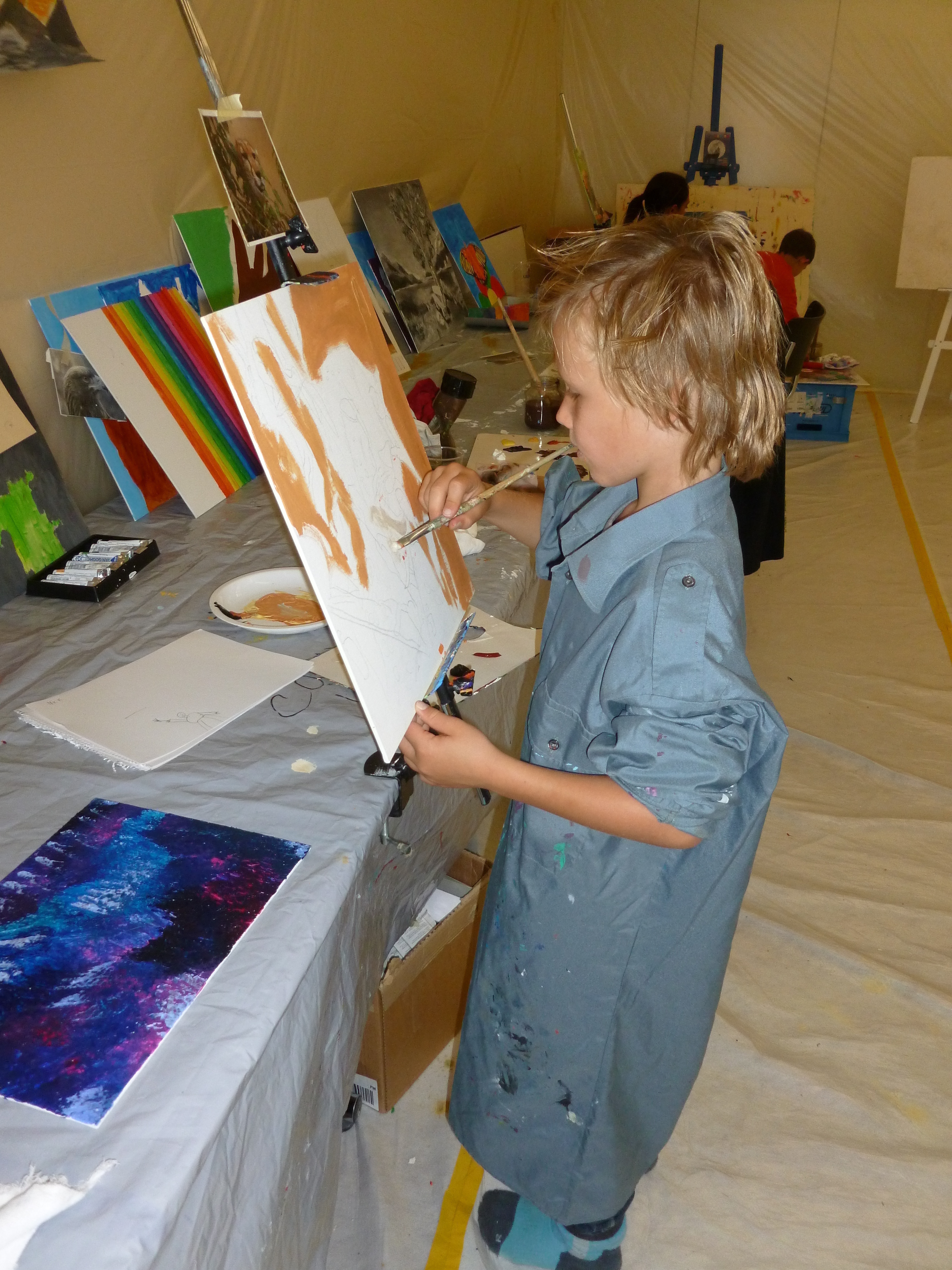 Creative painting course for children and teenagers with Luis Coray